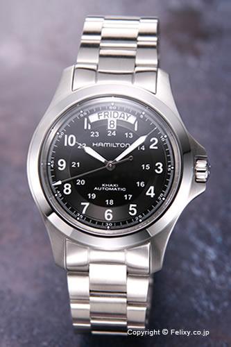 ハミルトン 腕時計 HAMILTON Khaki King Automatic(カーキ キング オートマチック) ブラック メンズ H64455133