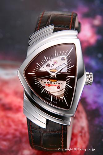 ハミルトン 腕時計 HAMILTON Ventura Auto (ベンチュラ オート) ダークブラウン/ブラウンカーフストラップ H24515591