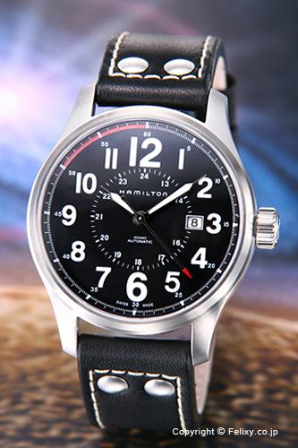 ハミルトン 腕時計 HAMILTON Khaki Officer Auto (カーキオフィサーオート) ブラック H70615733