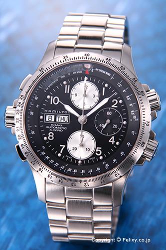 ハミルトン 腕時計 HAMILTON Khaki X-wind Automatic(カーキ Xウィンド) ブラック H77616133