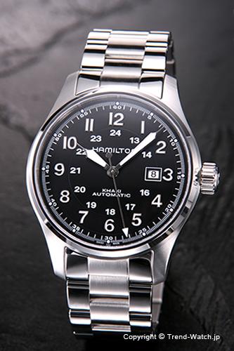 ハミルトン 腕時計 HAMILTON Khaki Field Auto(カーキフィールド オート) ブラック 44mm メンズ H70625133