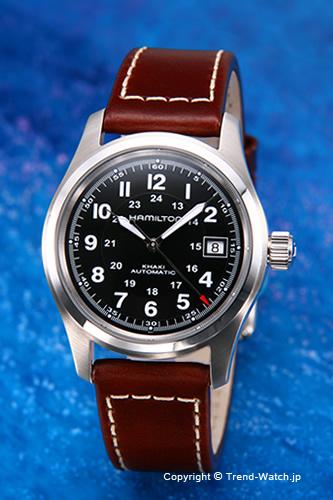 ee0cfdc05 HAMILTON / Hamilton watches Khaki Field Auto (khaki フィールドオート) black / brown  leather