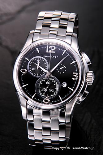 ハミルトン 腕時計 HAMILTON Jazzmaster Chronograph ブラック H32612135 【あす楽】