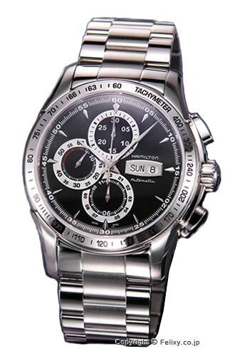 ハミルトン 腕時計 HAMILTON メンズ Lord Hamilton (ロード ハミルトン) クロノグラフ ブラック H32816131