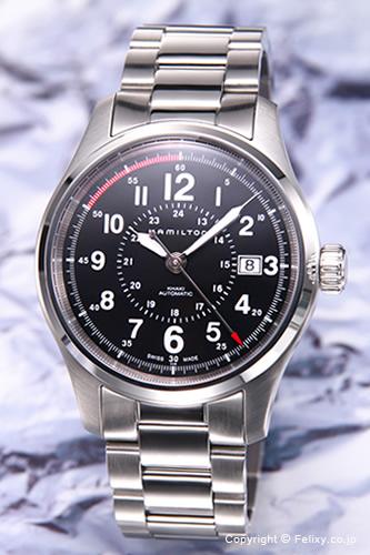 ハミルトン 腕時計 HAMILTON Khaki Field Auto 40mm (カーキフィールドオート 40mm) ブラック H70595133