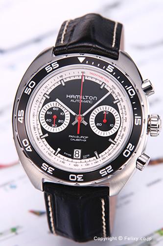 ハミルトン 腕時計 HAMILTON Pan Europ (パンユーロ) クロノマチック生誕40周年記念モデル ブラック H35756735