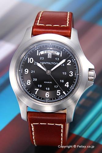 ハミルトン 腕時計 メンズ HAMILTON カーキ フィールド ブラック H64451533