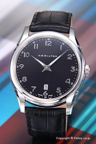 ハミルトン 腕時計 メンズ HAMILTON Jazzmaster Thinline (ジャズマスター シンライン) ブラック/ブラックレザーストラップ H38511733