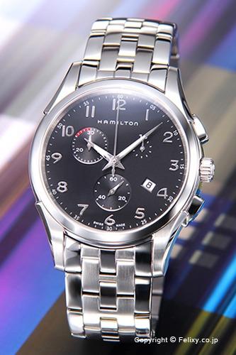 ハミルトン 腕時計 メンズ HAMILTON Jazzmaster Thinline Chrono(ジャズマスター シンライン クロノ) ブラック H38612133