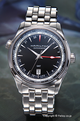 ハミルトン 腕時計 メンズ HAMILTON Jazzmaster GMT Auto (ジャズマスター GMT オート) ブラック H32695131