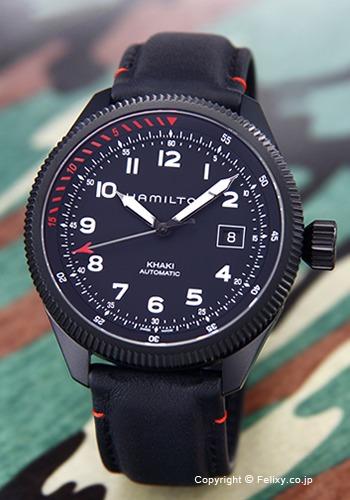 ハミルトン HAMILTON 腕時計 メンズ Khaki Takeoff Air Zermatt オールブラック H76695733 【あす楽】