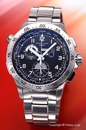 ハミルトン HAMILTON 腕時計 カーキ ワールドタイマー H76714135 【あす楽】
