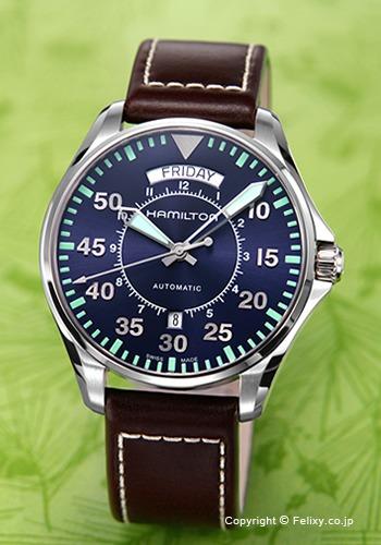 ハミルトン HAMILTON 腕時計 Khaki Pilot Day Date Auto H64615545