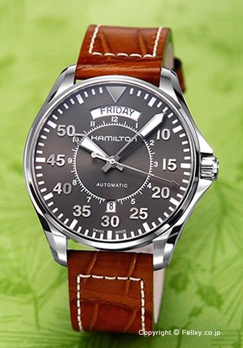 ハミルトン HAMILTON 腕時計 Khaki Pilot Day Date Auto H64615585