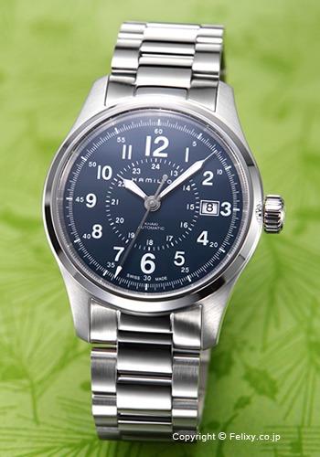 ハミルトン HAMILTON 腕時計 Khaki Field Auto ネイビー H70305143