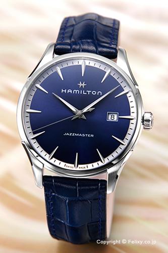 ハミルトン HAMILTON 腕時計 Jazzmaster Gent ブルー H32451641