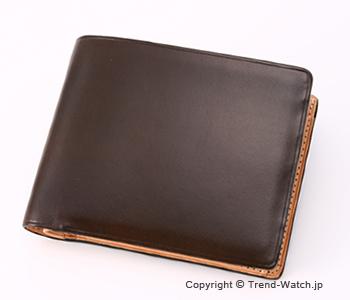 イルブセット 財布 Il bussetto 11-007 ダークブラウン 小銭入れ付き二つ折り財布