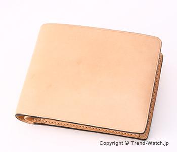 イルブセット 財布 Il bussetto 11-007 ナチュラル 小銭入れ付き二つ折り財布