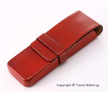 イルブセット ペンケース 2本用 Il bussetto 06-004 レッド