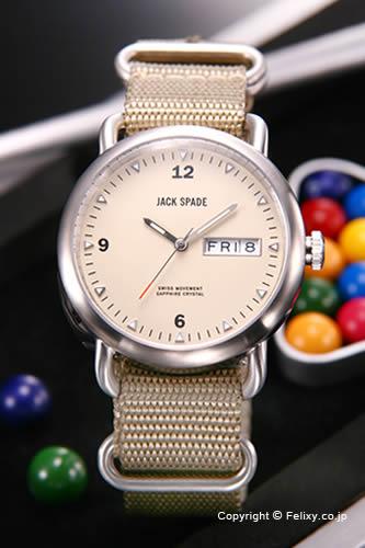 ジャックスペード 腕時計 メンズ JACK SPADE Conway (コンウェイ) クリーム WURU0056 【あす楽】