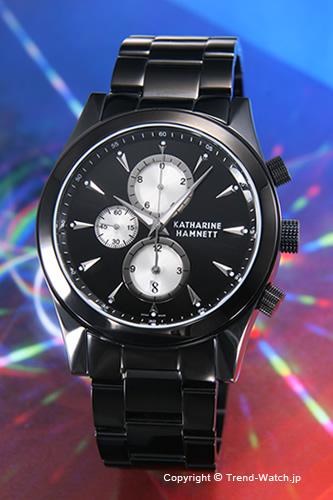 キャサリンハムネット 時計 KATHARINE HAMNETT 腕時計 メンズ Chronograph II(クロノグラフ2) SS(ブラックIP)/ブラック&シルバー KH2360-B34