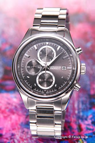 キャサリンハムネット 時計 KATHARINE HAMNETT 腕時計 メンズ KH20C9-B24 クラシック クロノグラフ グレー 【あす楽】