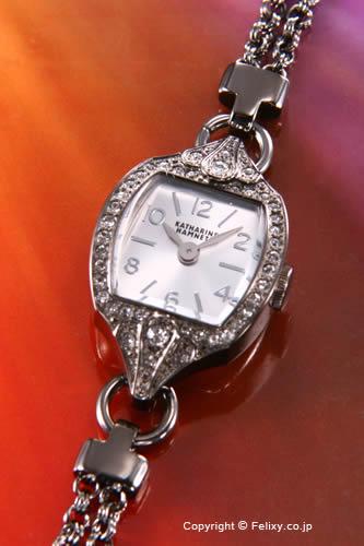 キャサリンハムネット 時計 KATHARINE HAMNETT 腕時計 レディース ガンメタル×シルバー KH04E1-B16 【あす楽】