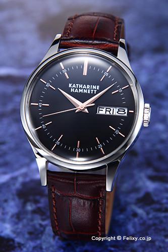 キャサリンハムネット 時計 KATHARINE HAMNETT 腕時計 メンズ KH20G4-34 ENGLISH SLICK ブラック