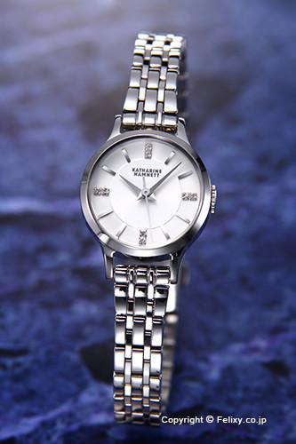 キャサリンハムネット 時計 KATHARINE HAMNETT 腕時計 レディース KH70G1-B14 ENGLISH SLICK シルバーホワイト