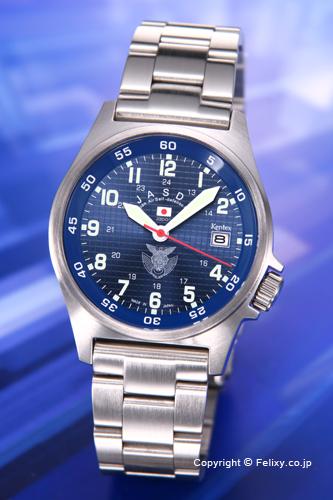 ケンテックス 腕時計 S455M-02M 航空自衛隊モデル ブルー/ステンレスベルト