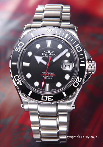 ケンテックス 腕時計 メンズ MARINEMAN(マリーンマン) ブラック S706M-01