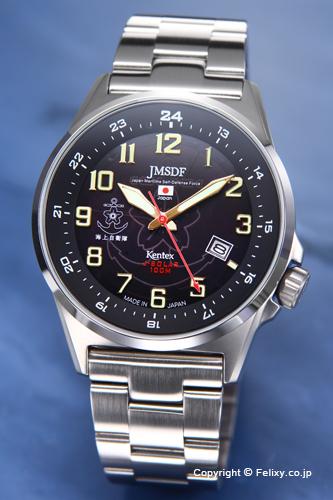 ケンテックス 腕時計 S715M-06 海上自衛隊モデル ブラック ソーラー