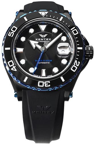 ケンテックス 腕時計 メンズ KENTEX S706M-22 マリーンマン シーホース2 ブラック