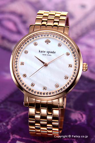 KATE SPADE Kate spade women s watch Monterey (Monterey) Pearl White   Rose  Gold (With crystals) 1 YRU0822 02P13Dec15 089c43f857