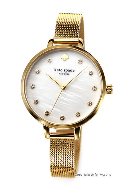 ケイトスペード 時計 レディース KATE SPADE 腕時計 Metro Mesh Shine KSW1491 【あす楽】