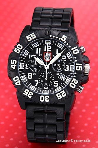 ルミノックス LUMINOX 腕時計 NAVY SEALs COLORMARK CHRONOGRAPH 3080 SERIES (カラーマーク クロノグラフ) ブラック 3082