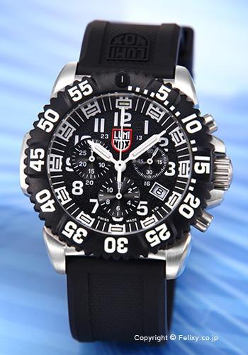 ルミノックス LUMINOX 腕時計 NAVY SEALs STEEL COLORMARK CHRONOGRAPH 3180 SERIES 3181.L 【あす楽】