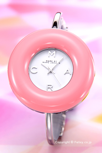 マークバイマークジェイコブス 時計 レディース MARC BY MARC JACOBS 腕時計 Donut Bangle (ドーナッツ バングル) ピンク MBM3398 【あす楽】