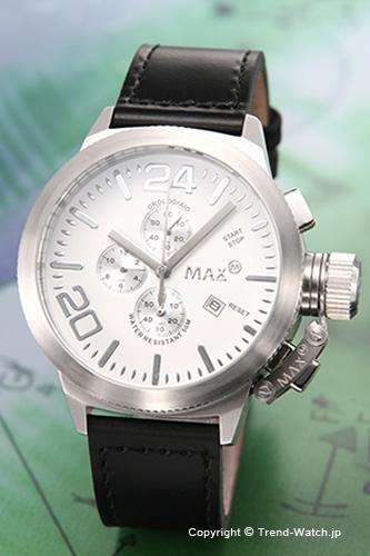 マックス 腕時計 MAX XL WATCHES Special Edition クロノグラフ 47mm ホワイト&シルバー 5-MAX521 【MAX XL WATCH】【マックス 時計】