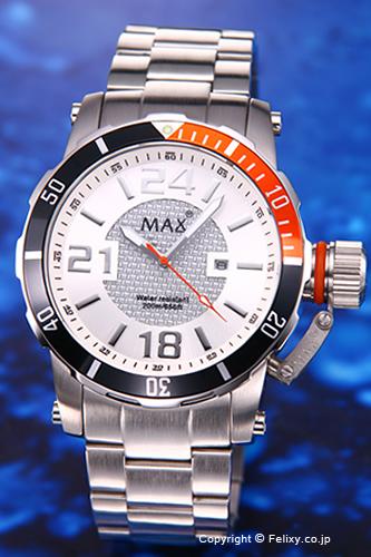 MAX XL WATCHES / マックス 腕時計 2012 Special Edition 47mm (2012年スペシャルエディション) ホワイト/オレンジ 5-MAX546 【マックス 時計】