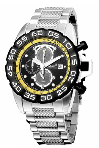 マックス 腕時計 メンズ MAX XL WATCHES Grandprix 45mm (グランプリ) ブラック×イエロー 5-MAX479 【マックス 時計】