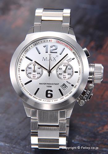 MAX XL WATCHES マックス メンズ腕時計 The Artisan Chronograph (アルティザン クロノグラフ) シルバー 5-MAX574 【マックス 時計】
