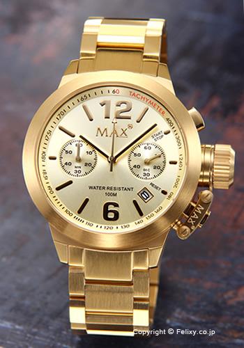 マックス 腕時計 メンズ MAX XL WATCHES The Artisan Chronograph (アルティザン クロノグラフ) ゴールド 5-MAX575 【マックス 時計】