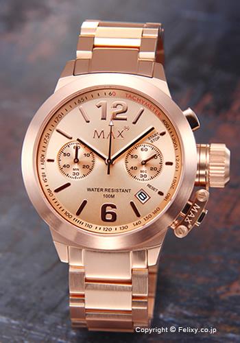 MAX XL WATCHES マックス メンズ腕時計 The Artisan Chronograph (アルティザン クロノグラフ) ローズゴールド 5-MAX576 【あす楽】