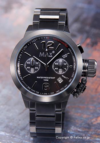 MAX XL WATCHES マックス メンズ腕時計 The Artisan Chronograph (アルティザン クロノグラフ) オールブラック 5-MAX577 【マックス 時計】
