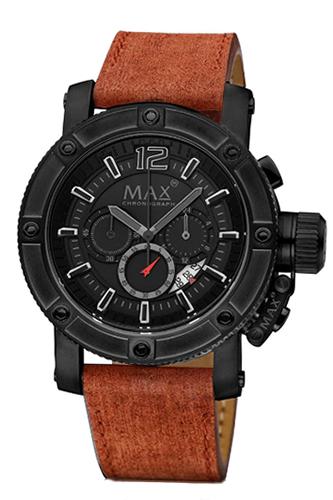 マックス 腕時計 MAX XL WATCHES The Chronograph (ザ クロノグラフ) オールブラック×ブラウン 5-MAX672