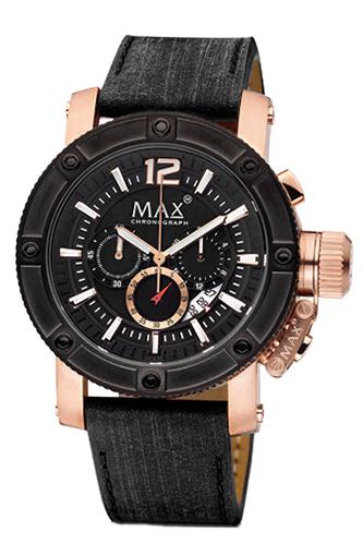 マックス 腕時計 MAX XL WATCHES The Chronograph (ザ クロノグラフ) ブラック×ローズゴールド 5-MAX674