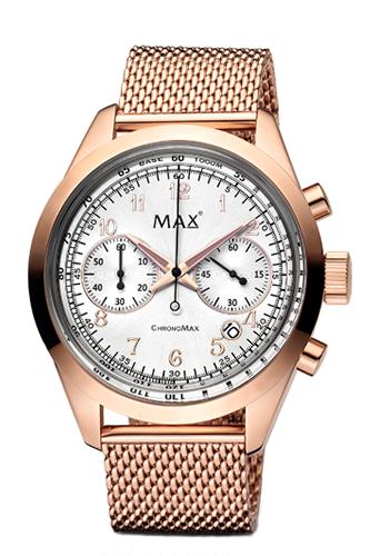 マックス 腕時計 MAX XL WATCHES The Chrono MAX (ザ クロノ マックス) シルバー×ローズゴールド 5-MAX667