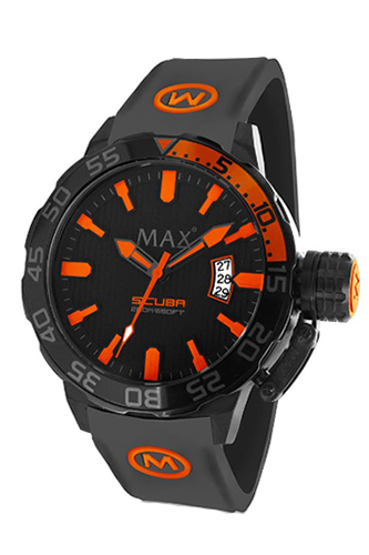 マックス 腕時計 MAX XL WATCHES The Scuba (ザ スクーバ) オールブラック×オレンジ 5-MAX694