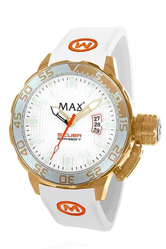 マックス 腕時計 MAX XL WATCHES The Scuba (ザ スクーバ) ホワイト×ゴールド 5-MAX698